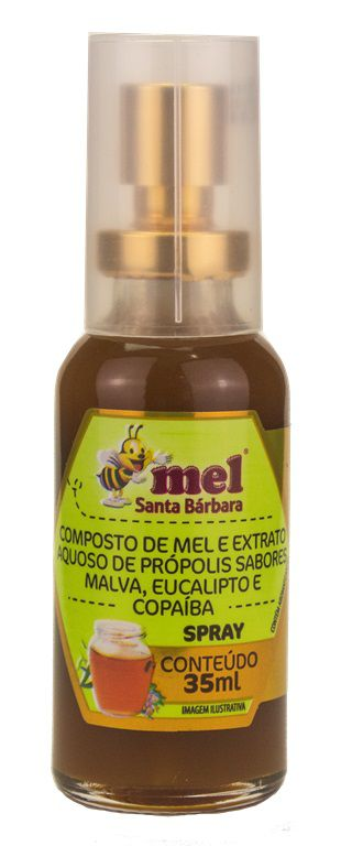 Spray de mel com própolis sabor malva, eucalipto e copaíba - 35ml