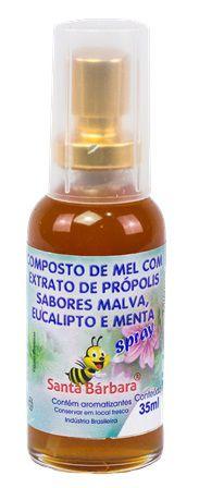 Spray de mel com própolis sabor malva, eucalipto e menta - 35 ml