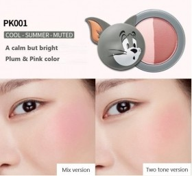 Etude House Lucky Together Tom& Jerry Blush two tone cor PK001