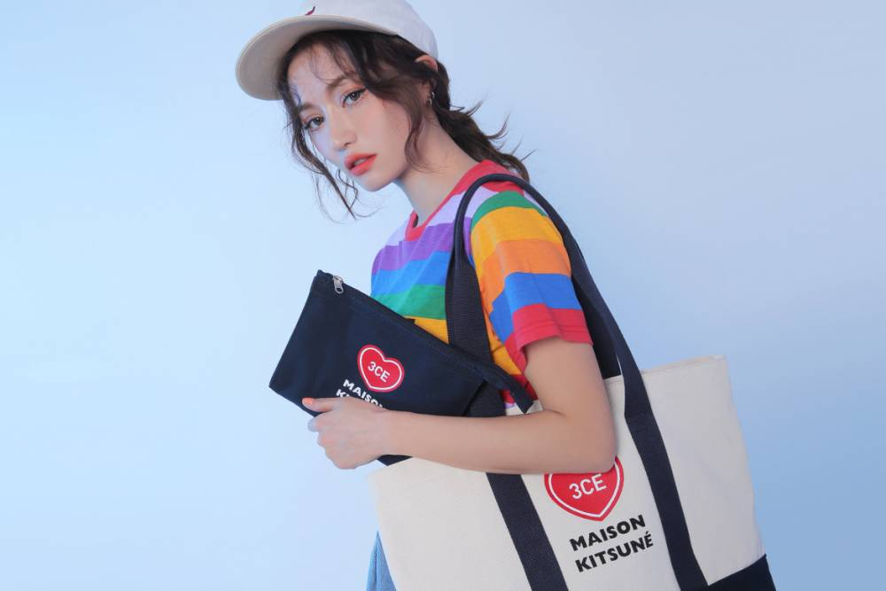 3CE Canvas Tote Bag x Maison Kitsune Edition