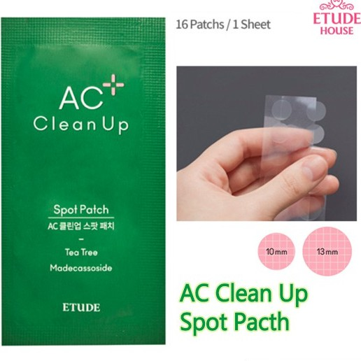 Etude House  AC Clean Up Spot Patch Adesivo hidrocolóide com 12