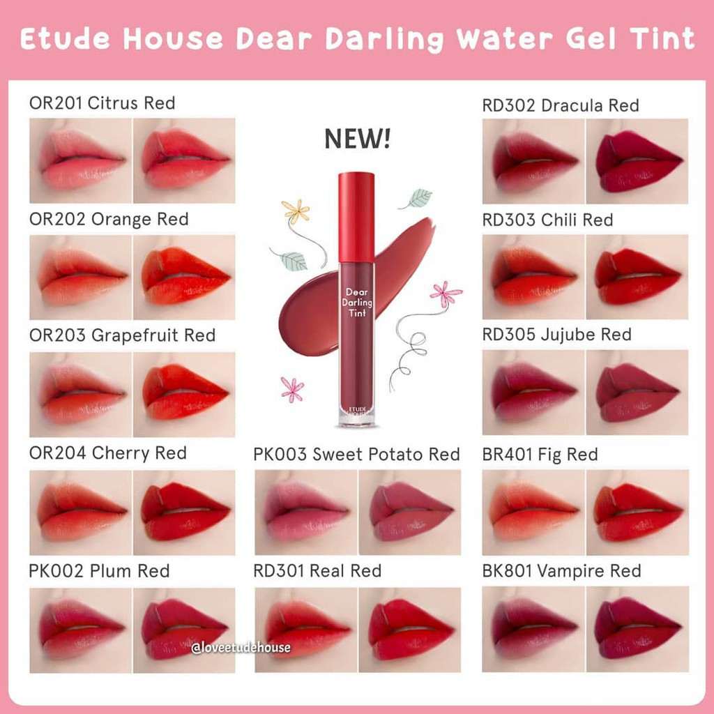Etude House Dear Darling Water Gel Tint NEW colors