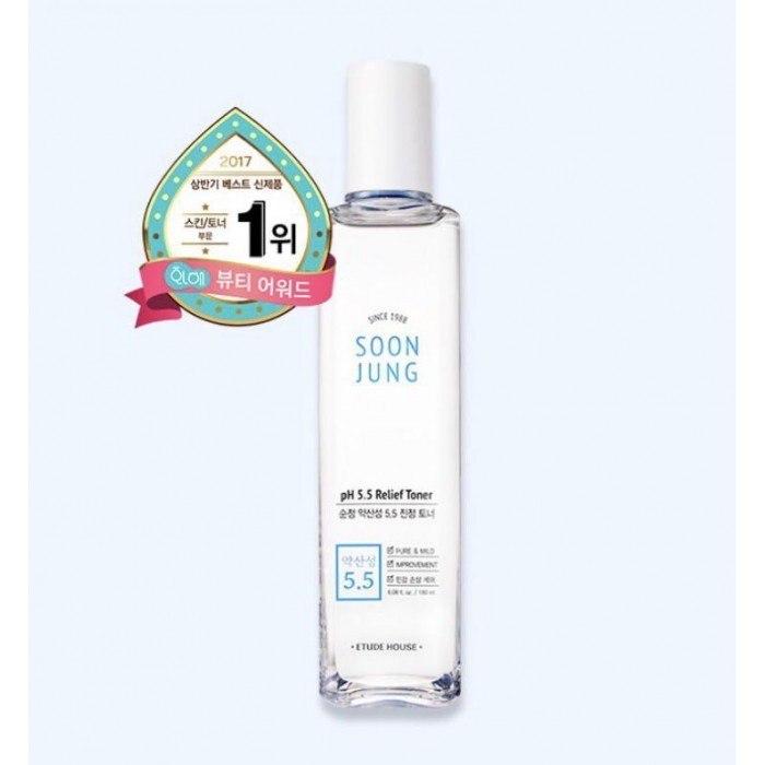 ETUDE HOUSE Soon Jung pH5.5 Relief Toner 180ml