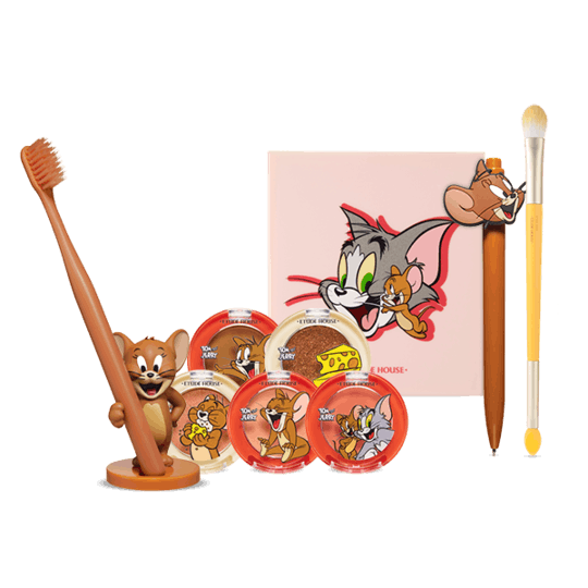 ETUDE HOUSE X Tom and Jerry Lucky Together Edition Jerry's Warm Color Eyeshadow Set 9items