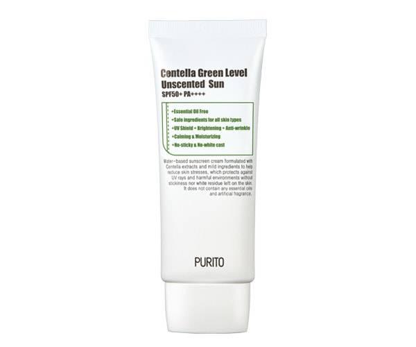 PURITO Centella Green Level Unscented Sun - sem perfume