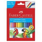 Canetinhas Hidrográficas 12 cores Faber Castell