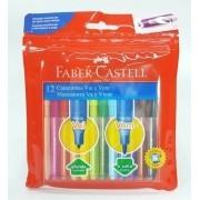 Canetinhas Hidrográficas 12 Cores Vai e Vem Faber Castell