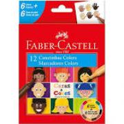 Canetinhas Hidrográficas 6 cores + 6 cores caras e cores Faber Castell