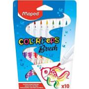Canetinhas Hidrográficas Brush 10 cores Colorpeps
