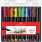 Canetinhas Hidrográficas Brush 10 cores Supersoft Faber Castell