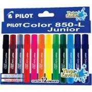 Canetinhas Hidrográficas Jumbo 12 cores Pilot