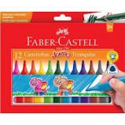 Canetinhas Hidrográficas Jumbo triangular 12 cores Faber Castell