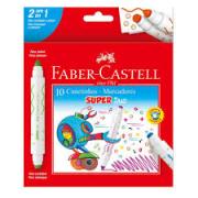 Canetinhas Hidrográficas Super Duo 10 cores Faber Castell