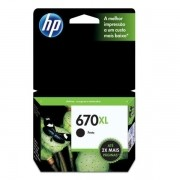 CARTUCHO HP 670XL PRETO