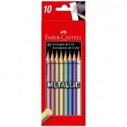 Lápis de Cor 10 cores metálicas Faber Castell