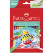 Lápis de Cor Aquarelável 36 cores Faber Castell