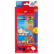 Lápis de Cor Bicolor 24 cores Faber Castell