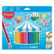 Lápis de Cor Jumbo 24 cores Colorpeps Maped
