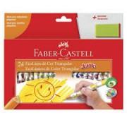 Lápis de Cor Jumbo 24 cores Faber Castell