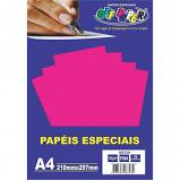 Papel Neon A4 180g Pink Pacote 20 Folhas