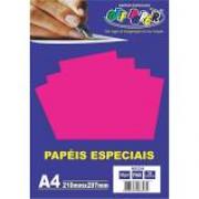 Papel Neon A4 180g Pink Pacote 20 Folhas