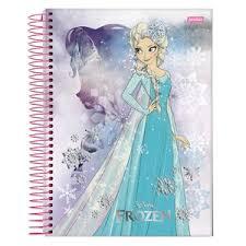 Caderno Universitário Capa Dura 96 Folhas Frozen