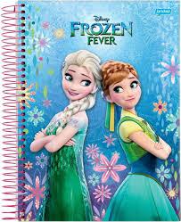 Caderno Universitário Capa Dura 96 Folhas Frozen Fever