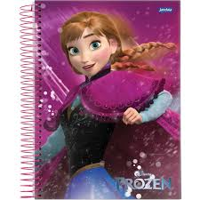 Caderno Universitário Capa Dura 96 Folhas Frozen Magic