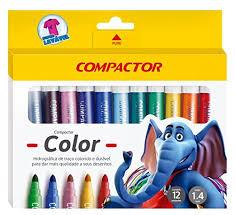 Canetinhas Hidrográficas 12 cores Compactor color