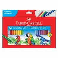 Canetinhas Hidrográficas 24 cores Faber Castell