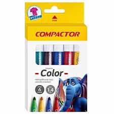 Canetinhas Hidrográficas 6 cores Compactor color