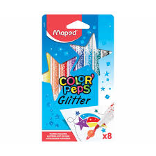 Canetinhas Hidrográficas 8 cores glitter Colorpeps