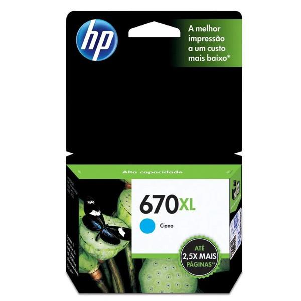 CARTUCHO HP 670XL CIANO