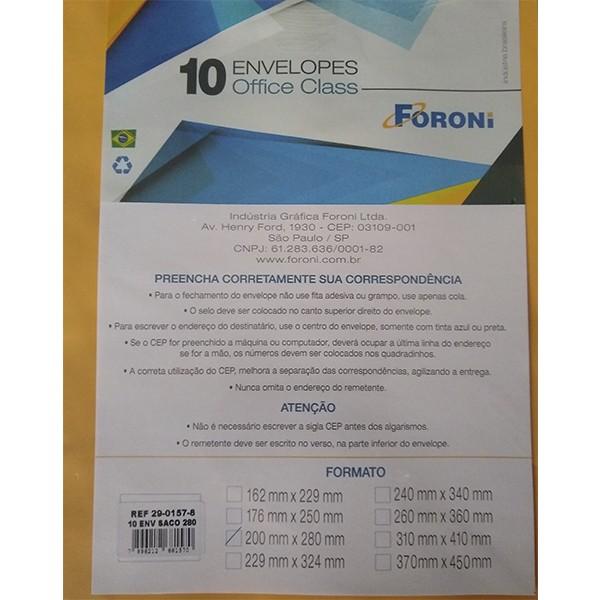 Envelope kraft Ouro 200x280 10 Unidades