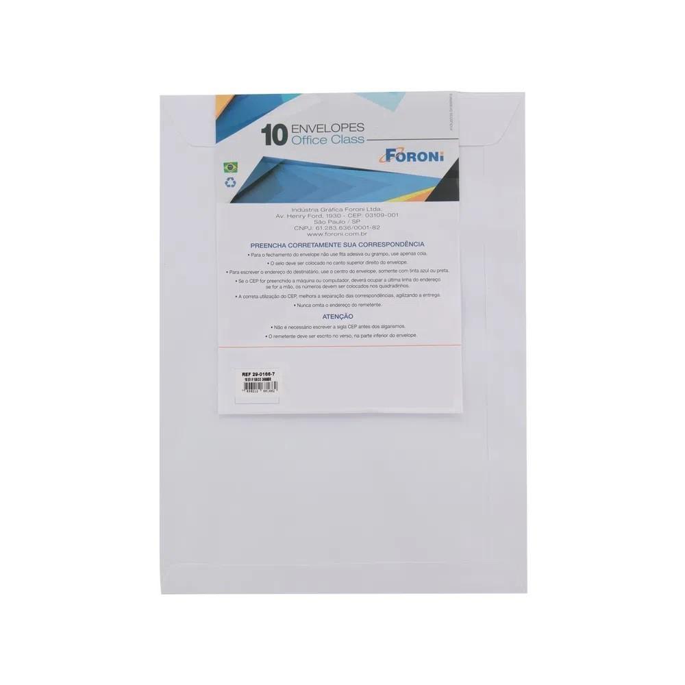 Envelope Oficio Branco 114X229  - 10 UNI