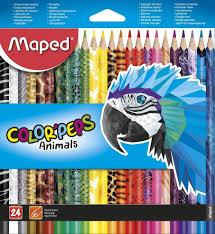 Lápis de Cor 24 cores Colorpeps Animals Maped