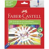 Lápis de Cor 24 cores super ponta Faber Castell