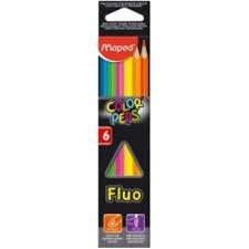 Lápis de Cor 6 cores Colorpeps Fluor Maped