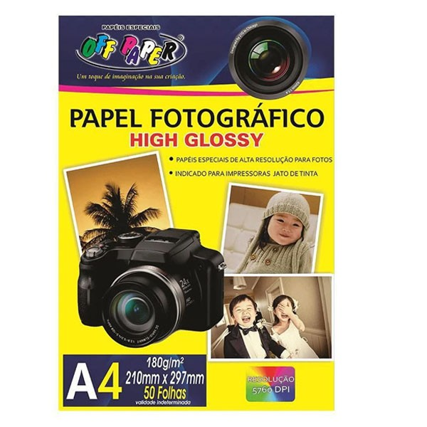 Papel Fotográfico A4 180g Pacote 50 Folhas A Prova D'água