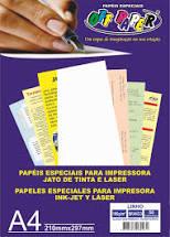 Papel Linho Branco A4 180g Pacote 50 Folhas