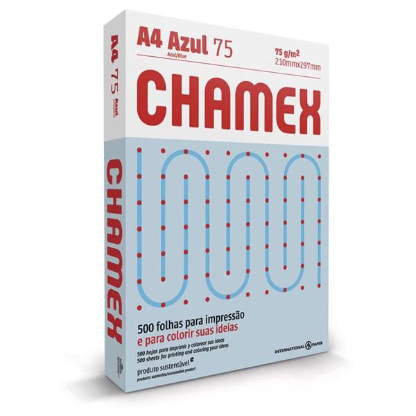 Papel Sulfite 75g A4 Chamex Azul