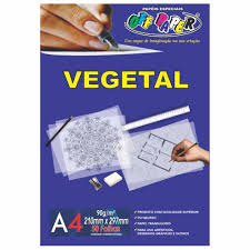 Papel Vegetal A4 90g Pacote 50 Folhas
