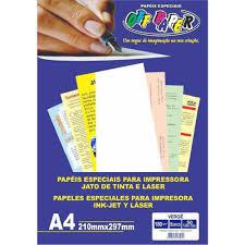 Papel Vergê Branco A4 180g Pacote 50 Folhas