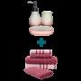 Jogo de Toalha 5 Peças Rosa + Kit de Banheiro 3 Peças Vintage Rosa