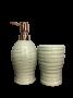 Kit de Banheiro de Cerâmica 2 peças Art Bege