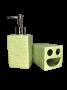 Kit de Banheiro de Cerâmica 2 peças Brick Verde