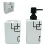 Kit de Banheiro de Cerâmica 2 Peças Formats Quadrado