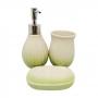 Kit de Banheiro de Cerâmica 3 Peças Vintage Verde