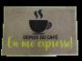 Tapete Capacho de Porta 40x50 cm Depois do Café Jolitex