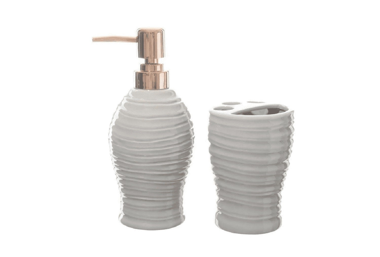 Kit de Banheiro de Cerâmica 2 peças Art Branco